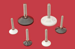 Adjustable Levelling feet - 12mm  stem with plastic base