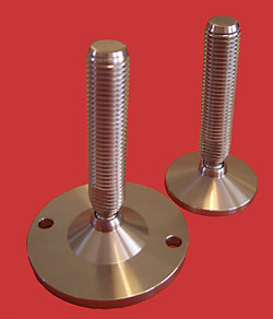 Adjustable Levelling feet - All stainless with 24mm diam. stem