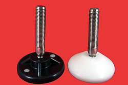 Adjustable Levelling feet - 12mm  stem with plastic base (prod)