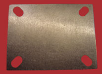 Castor - Stainless Steel weld-on plate 105mm x 85mm x 4mm