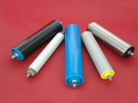 Conveyor rollers - stainless steel, mild steel, and plastic